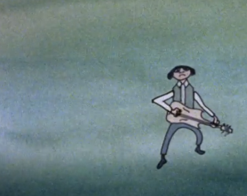muzikant door Harry Schäfer uit zijn animatiefilm Beat
