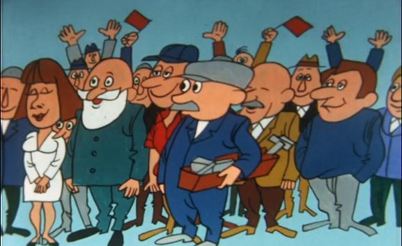 het gewone volk uit De Troon, animatie van Jan van Weeszenberg