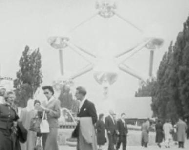 expo 1958 in Brussel still uit film Piet Schendstok
