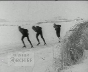 still IJsmarathon 1963, amateurfilm Elfstedentocht 1963 door Kleare Kimen Leeuwarden