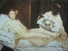 still Olympia van Vladimir Murtin, film gebaseerd op schilderij Olympia van Manet