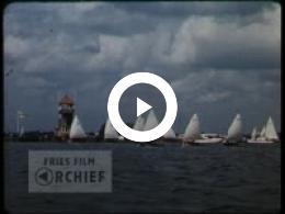 Keyframe of Zeilen op het Sneekermeer, 1956