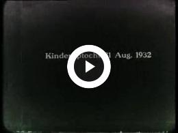 "Keyframe of AV614 Kinderoptocht 31 augustus 1932 en boottocht ""Specht"" Ommen en Grou; Bos, T; circa 1932"