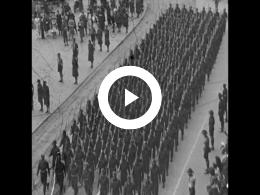 Keyframe of AMATEURFILMS CAREL GUSTAAF OLIE JR. - Militaire parade