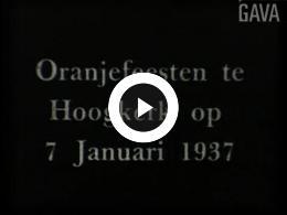 Keyframe of Oranjefeest Hoogkerk / P. Mulder, 7 januari 1937