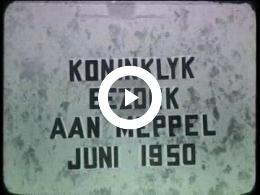 Keyframe of AV194 Koninklijk bezoek aan Meppel juni 1950; T. Bos, Lambers en J. Poortman; omstreeks juni 1950