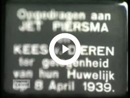 Keyframe of Trouwerij echtpaar Van Dieren 1939, 08-04-1939