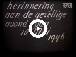 Keyframe of Vijfentwintigjarig huwelijksfeest Thie / G. Thie, van Dam, circa 1946-05-18
