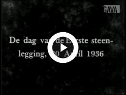 Keyframe of De dag van de eerste steenlegging [of] Opening Joodsche Invalide / M. Levie, 1936-1938