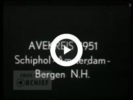 Keyframe of AVEK reis Schiphol - Amsterdam - Bergen N.H. , 1951