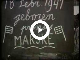 Keyframe of AV2075 Optochten en viering geboorte Prinses Marijke; Dirk Spijkerman; 1947