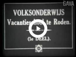 Keyframe of Volksonderwijs. Vacantieschool te Roden / J. Thie, 1932