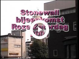 Keyframe of Stonewall bijeenkomst Roze Zaterdag 2001