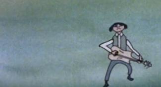 beat animatie Harry Schäfer met gitarististen violisten kikkers vogels