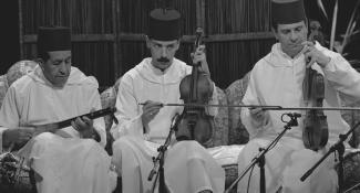 optreden Marokkaanse muziekgroep in Paspoort Bron: Beeld en Geluid fotocollectie bestandsnaam FTA001066160_009